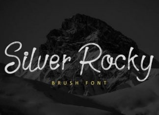 Silver Rocky Brush Font