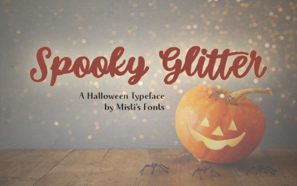 Spooky Glitter Script Font