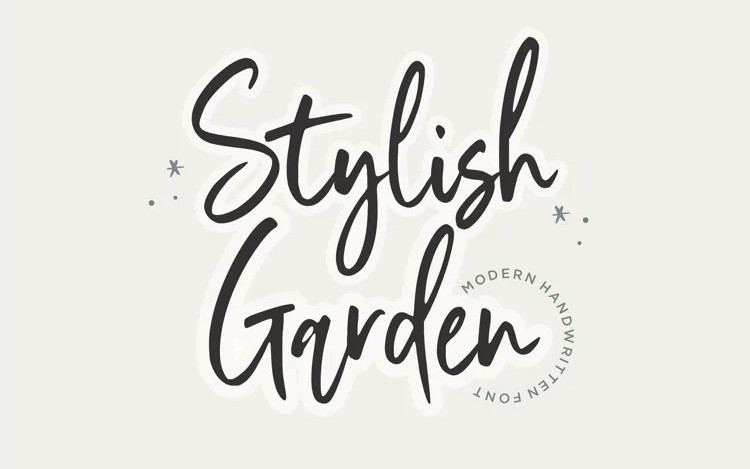 Stylish Garden Script Font