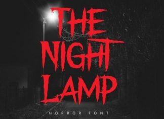 The Night Lamp Display Font