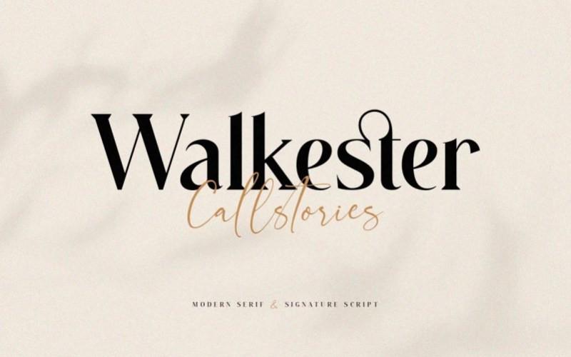 Walkester Serif Font
